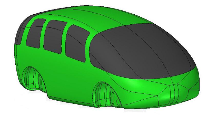 Kunststoff-Fahrgastzelle